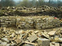 reclaimed walling